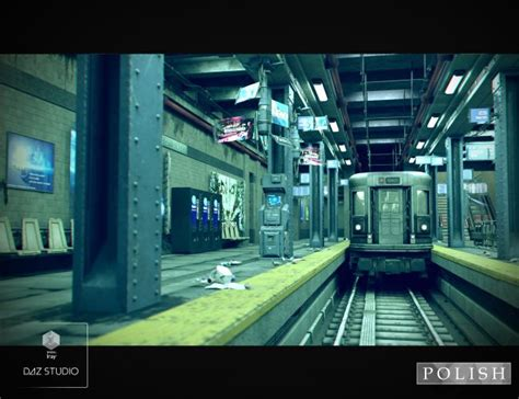 cyberpunk subway station  models  poser  daz studio