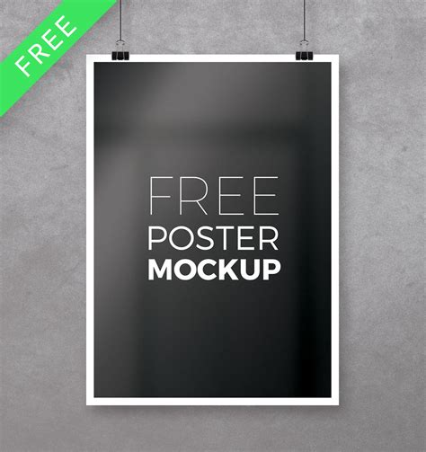 Poster Mockup 38 Free Psd Poster Mockups To Help With Your Presentation