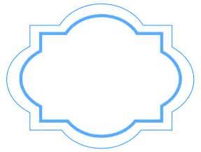 fancy label shape clip art