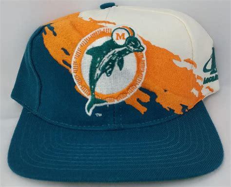 miami dolphins vintage snapback logo athletic splash hat nfl pro line cap marino flashin