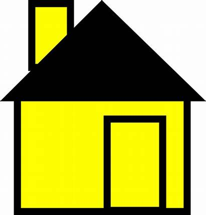 Simple Clip Clipart Yellow Drawing Cartoon Houses