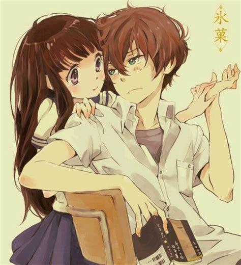 anime like hyouka with more romance couple anime heart boner otps pinterest anime