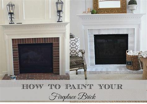 paint  brick fireplace surround  magnolia lane