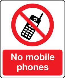 sign in mobile phone prohibition no mobile phones sign stocksigns