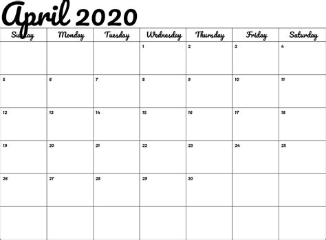 april calendar good calendars