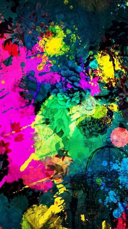 Iphone Paint Splatter Colorful Abstract Wallpapers Clever