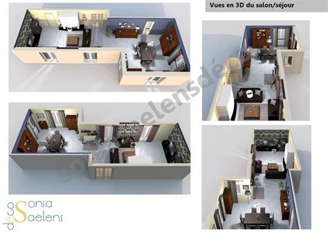 aménagement salon salle à manger cuisine decoration salon salle a manger cuisine gallery of idee