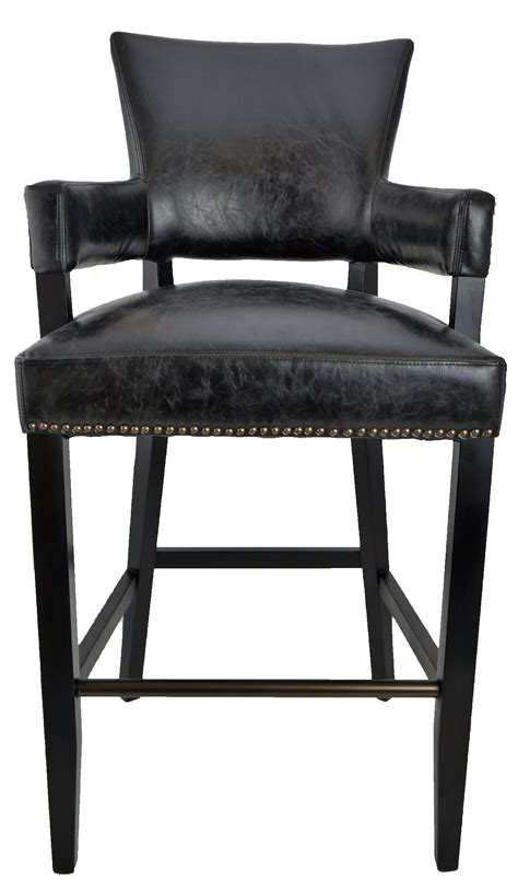 Black Looking Stool by Bar Stools Kitchen Counter Stools Black Majestic Arm