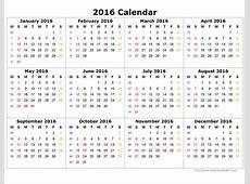Monthly Calendar 2016 monthly calendar printable