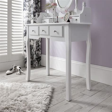 Dressing Table With Mirror And Stool by White Dressing Table Mirror And Stool Set Dresser Ebay