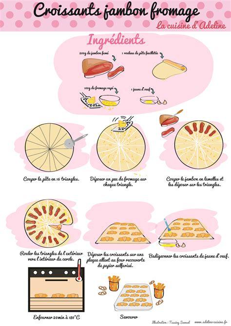 histoire des recettes de cuisine croissants jambon fromage recette illustrée la cuisine d 39 adeline