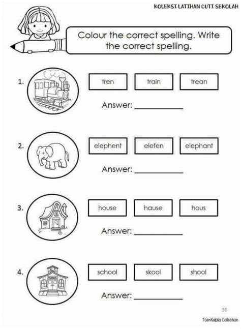 English standard 1 - Interactive worksheet