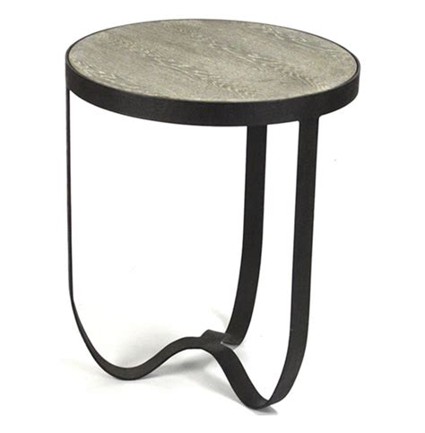 round metal end table deco industrial modern rustic metal round side table