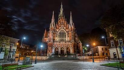 Catholic Church Poland Krakow Wallpapers Saint Desktop