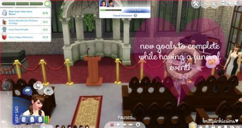 brittpinkiesims funeral event mod sims  downloads