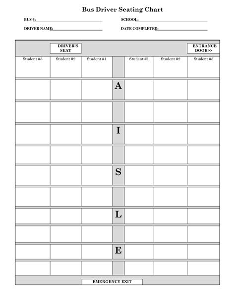 Table Seating Diagram Printable by School Seating Chart Template Education Ideas