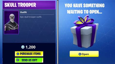 gift skins  fortnite season  fortnite gifting