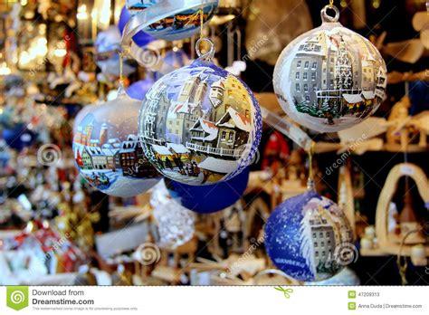 christmas decorations stock image image  ball hanging