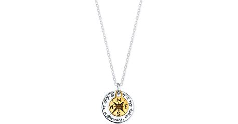 Macy's Life Is A Journey Compass Pendant Necklace In Gold-flashed Sterling Silver And Sterling Jewelry Exchange Emerald Rings Massachusetts Auctions Online Usa Jersey Gardens Mall International Shipping Diamond Dealers Colorado