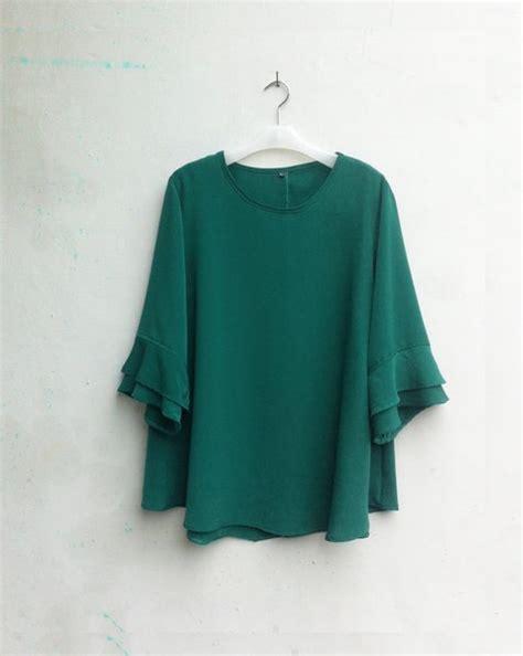jual  blouse wanita big size     warna hijau