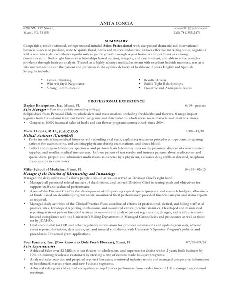 Cia Resume Tips by Sales Professional Talented Assistant