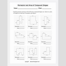 Find The Perimeter And Area Of Compound Shapes (not Drawn To Scale)all Shapes Are Made Up Of