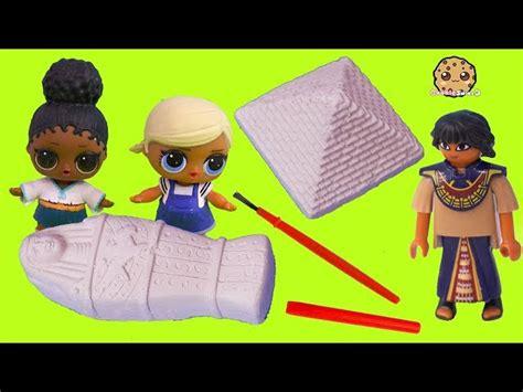 lol surprise dolls egypt treasure hunt digging  gold