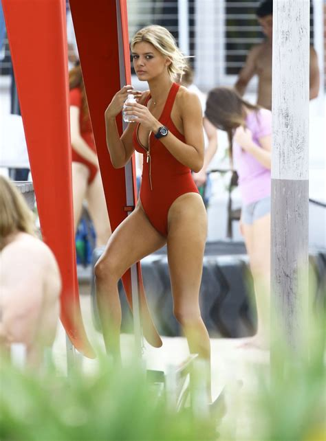 kelly rohrbach  red swimsuit  set  baywatch  miami