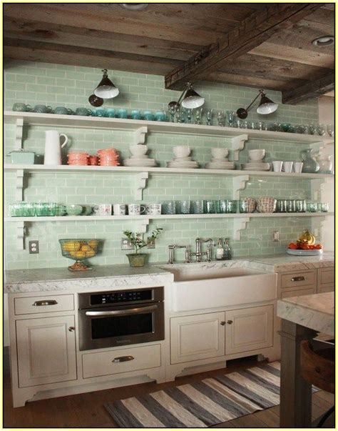 green tile backsplash kitchen ideas toger mint green subway tile backsplash kitchen
