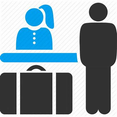 Icon Hotel Booking Reception Clipart Guest Receptionist