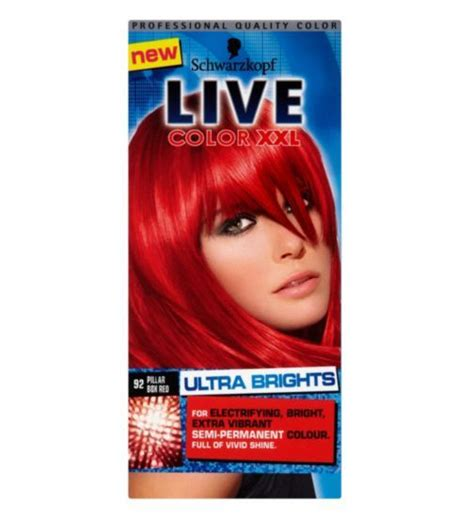 Box Hair Dye by Schwarzkopf Live Ultra Brights 092 Pillar Box Hair Dye