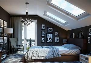 schlafzimmer design ideen 20 moderne inspirationen With balkon teppich mit wand muster tapeten