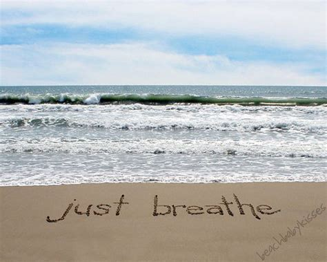 breathe sand writing  beachbabykisses  etsy