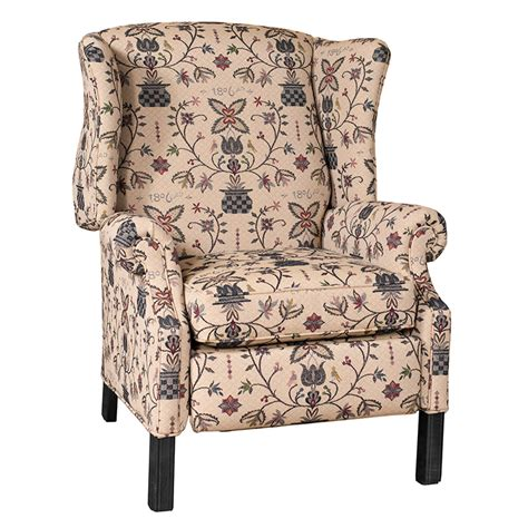 reclining classic wingback chair irvins tinware