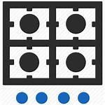 Stove Kitchen Icon Gas Fire Clipart Plate