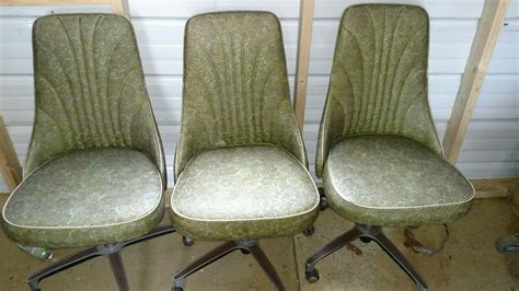 vintage chromcraft mid century modern retro 3 chairs