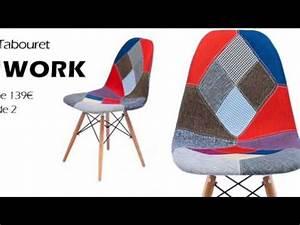 Tabouret De Bar Patchwork : chaise patchwork tabouret de bar youtube ~ Melissatoandfro.com Idées de Décoration