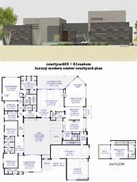 courtyard house plans Luxury Modern Courtyard House Plan   61custom ...