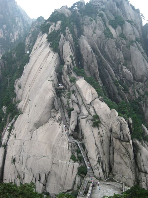 China's Huangshan Mountain Has The Craziest Steps Ever ...