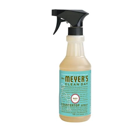 mrs meyer s clean day 16 oz basil countertop spray 14118