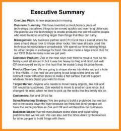 executive summary marketing plan executive