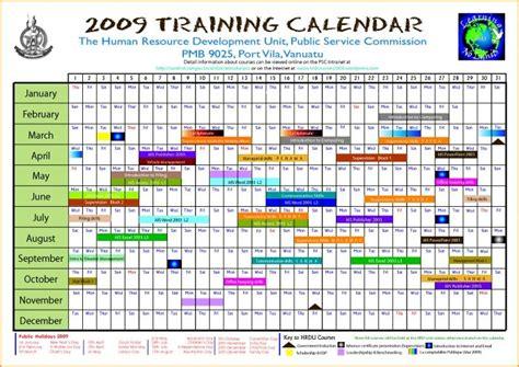 editable calendar march  annual training calendar