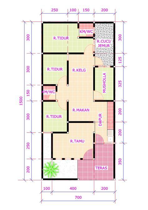 denah rumah  kamar ukuran  terbaru desain rumah