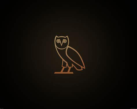 ac wallpaper ovo owl logo dark minimal papersco