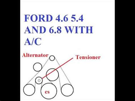Ford Belt Diagram Youtube