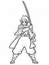 Slayer Demon Tanjiro Kamado Coloring Pages Printable sketch template