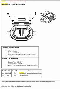 Pin Out Or Wiring Diagram For C6 Ambient Air Sensor