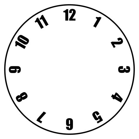 clock template free clock faces printable activity shelter
