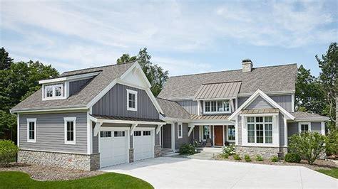 daylight basement home plans modern farmhouse with daylight basement hwbdo77995