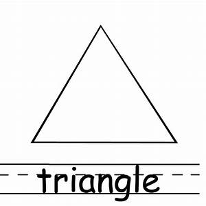 Triangle Coloring Page - Printable Coloring Image